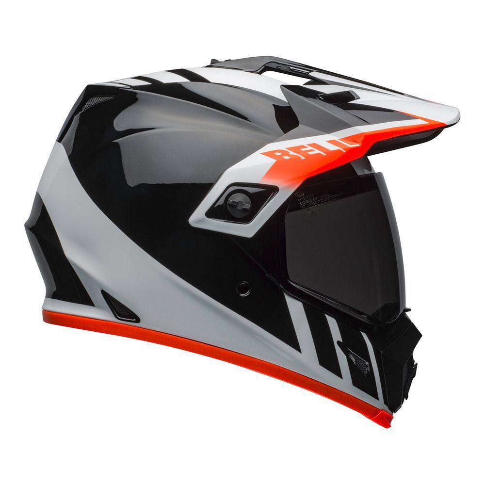 Capacete Bell MX9 Adventure MIPS DASH Preto/Branco/Laranja  - Convem Honda