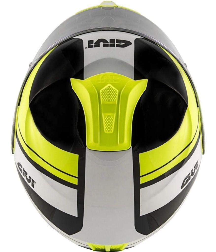 Capacete GIVI X21 Challenger Globe Preto/Amarelo Fluor/Prata  - Convem Honda