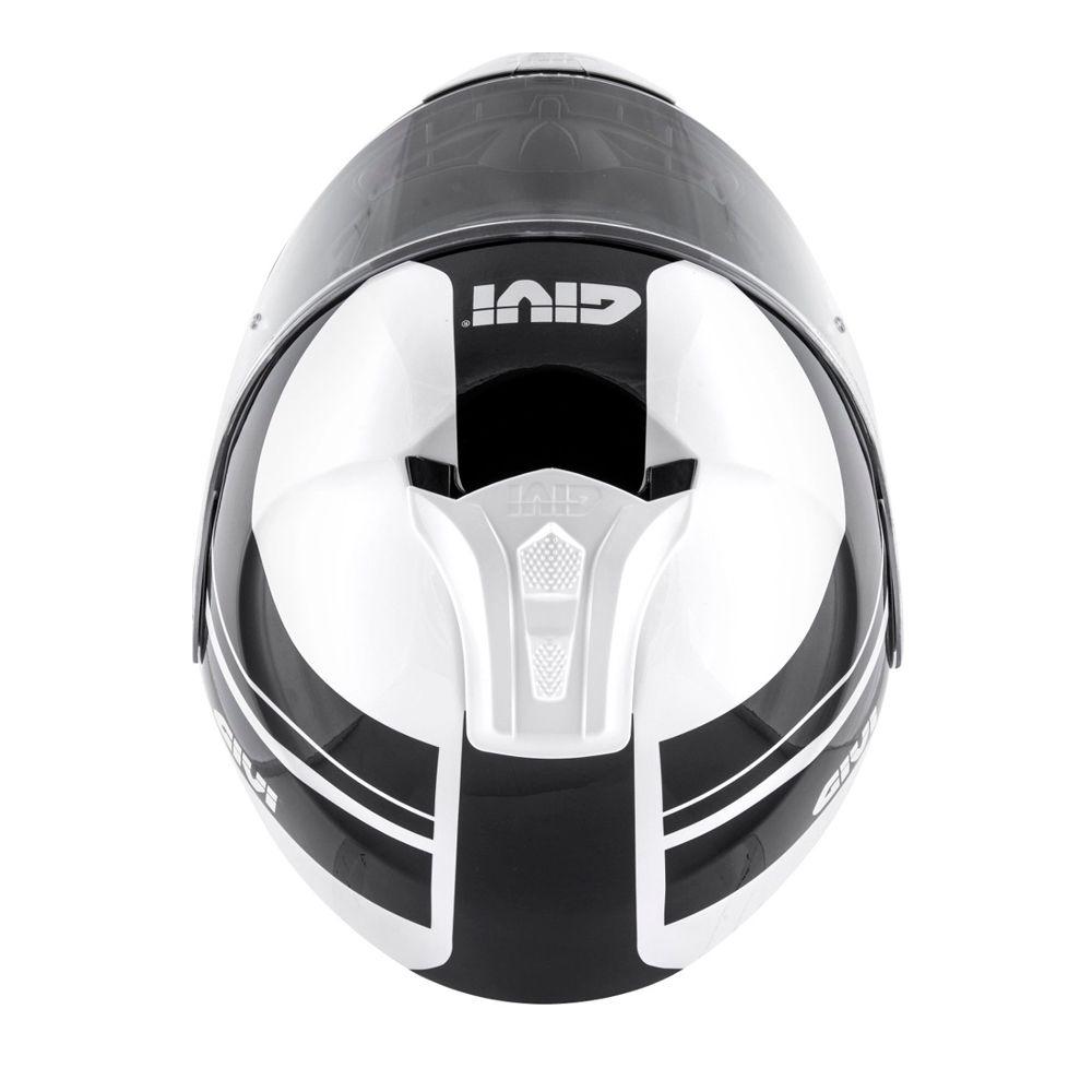 Capacete GIVI X21 Challenger Globe Preto/Branco  - Convem Honda
