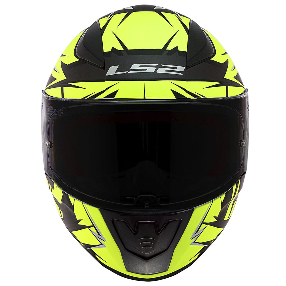 Capacete LS2 FF353 Cromo Preto Fosco/Amarelo Fluor  - Convem Honda