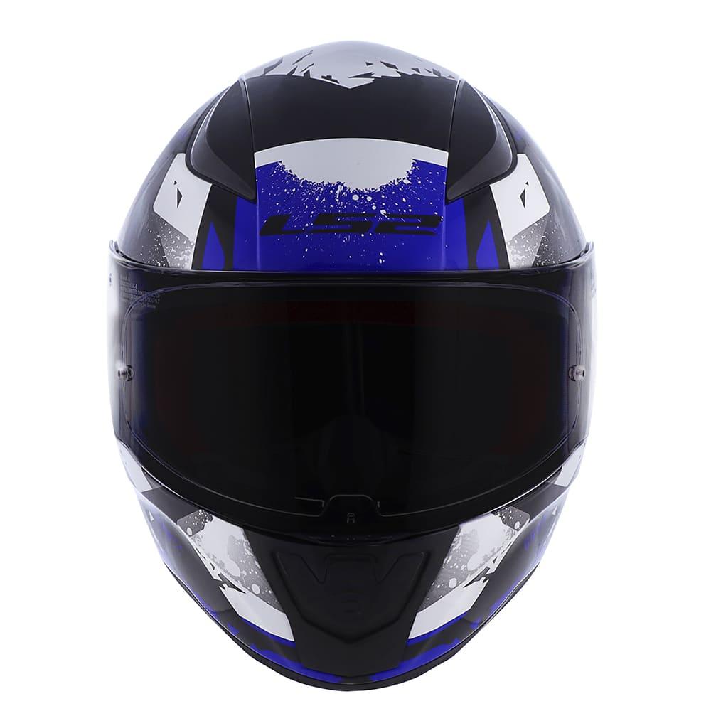 Capacete LS2 FF353 Rapid Grow Preto/Prata/Azul  - Convem Honda