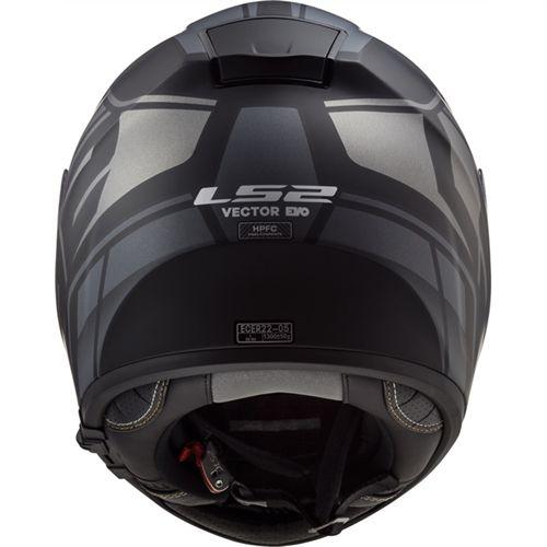 Capacete LS2 FF397 Vector Evo Kripton Preto Fosco/Cinza  - Convem Honda