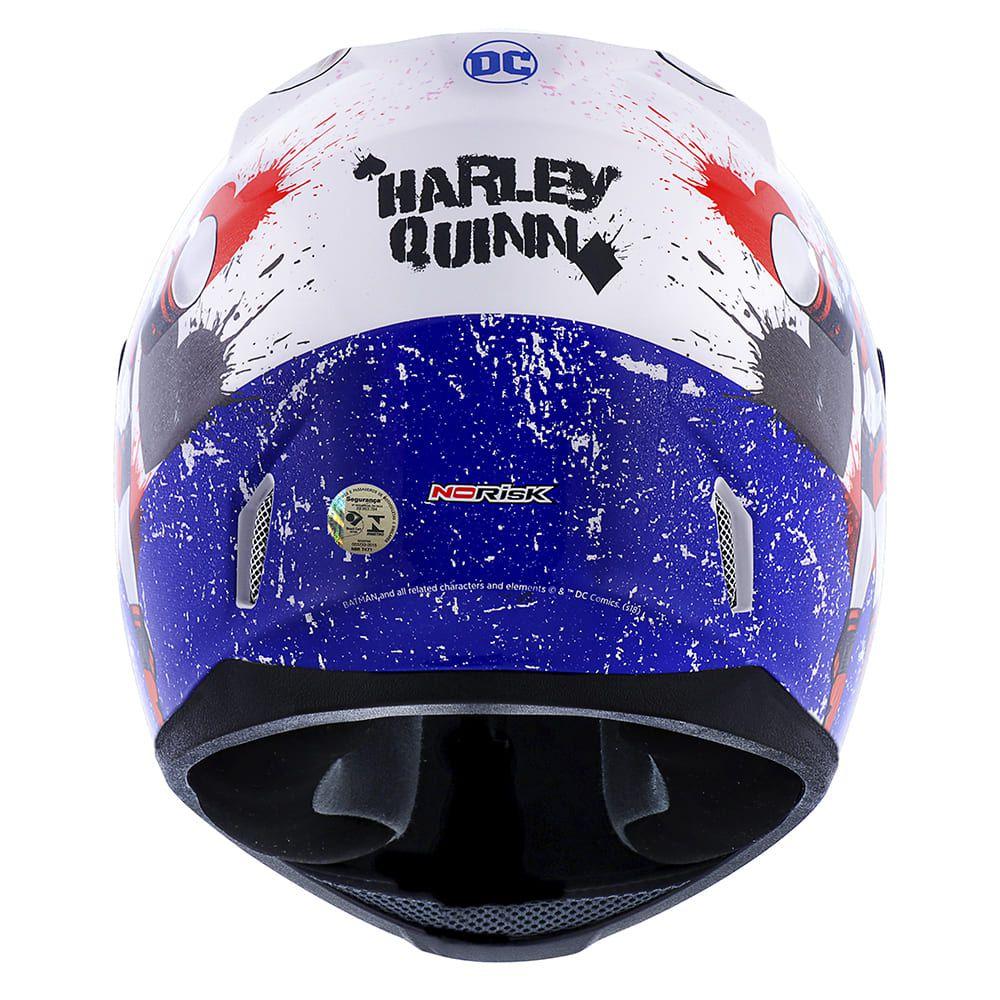 Capacete Norisk FF391 Harley Quinn Branco  - Convem Honda