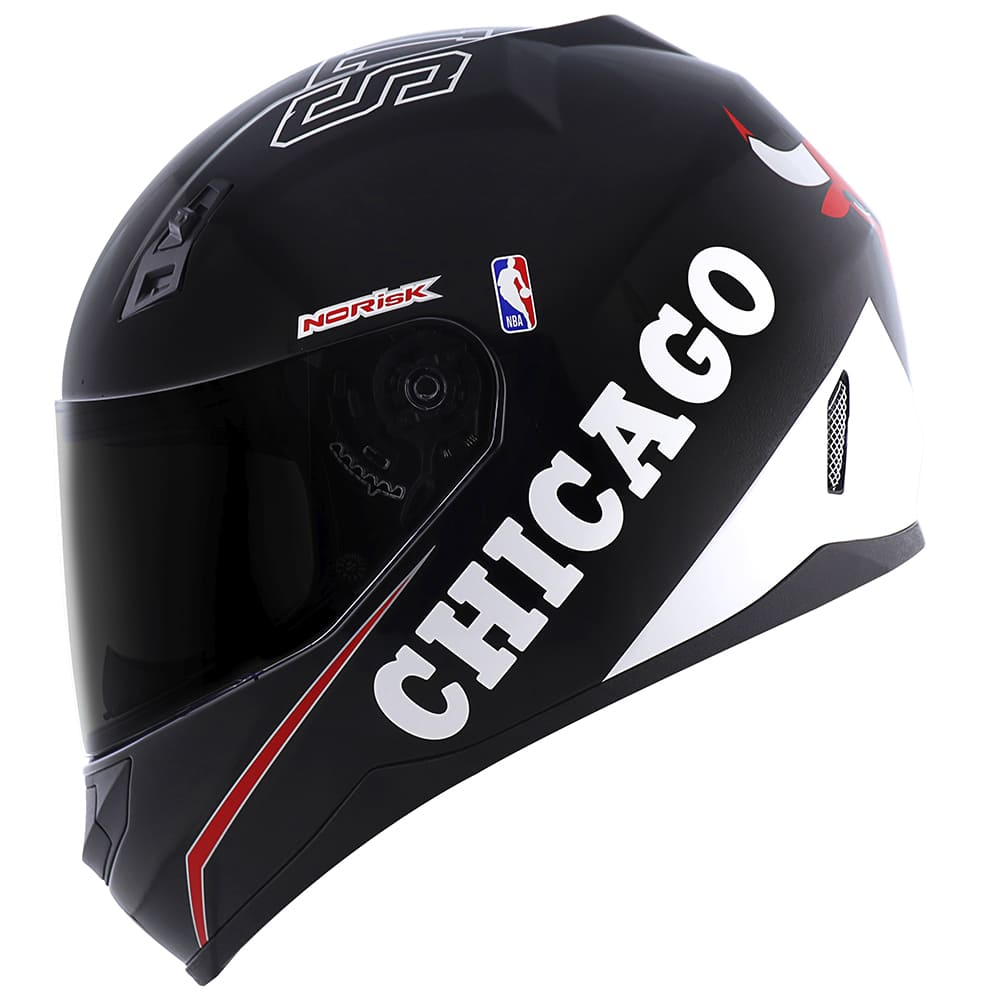 \Capacete Norisk FF391 Stunt NBA Chicago Bulls Preto  - Convem Honda