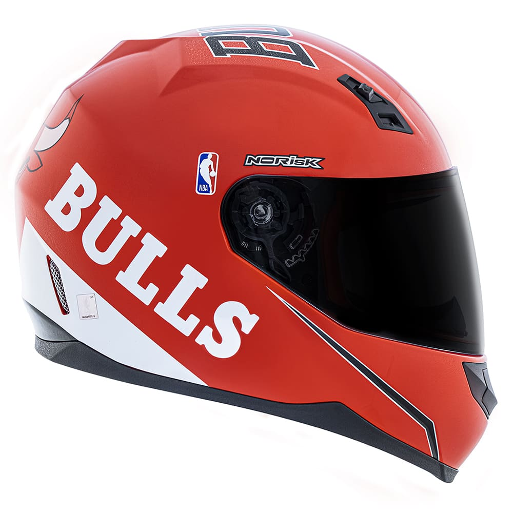 Capacete Norisk FF391 Stunt NBA Chicago Bulls Vermelho  - Convem Honda