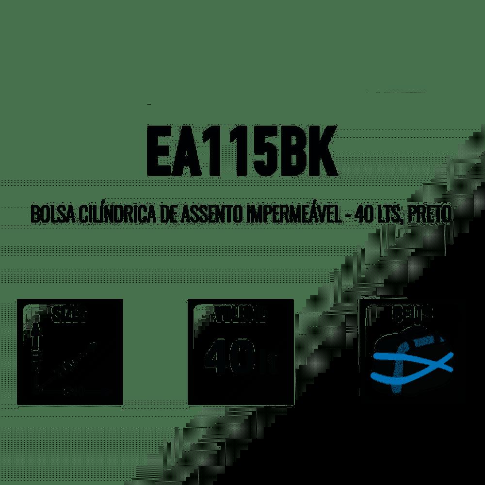 Bolsa Impermeável 40L GIVI EA115BK  - Convem Honda