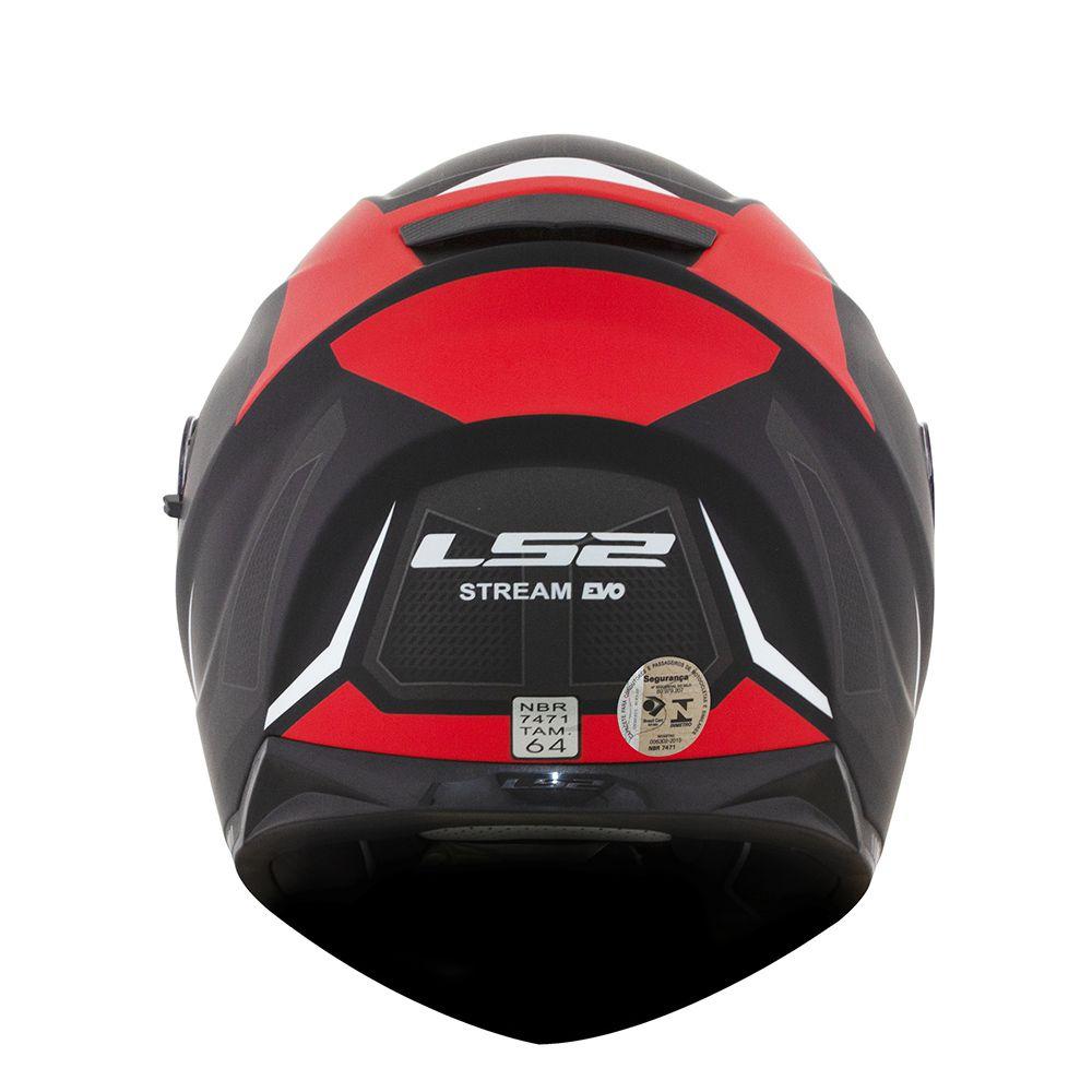 CÓPIA - Capacete LS2 FF320 Stream Edge Preto Fosco/Vermelho/Cinza  - Convem Honda