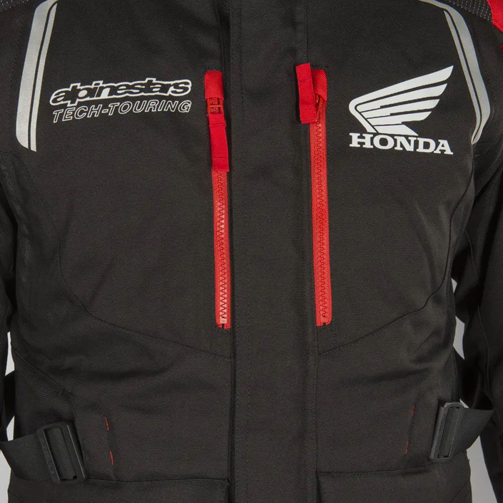 Jaqueta Alpinestars Andes V2 Honda Preto/Vermelho  - Convem Honda