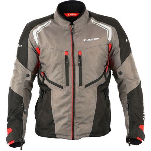 Jaqueta Adventure LS2 Gallant Masculina Impermeável cinza/preto/vermelho  - Convem Honda