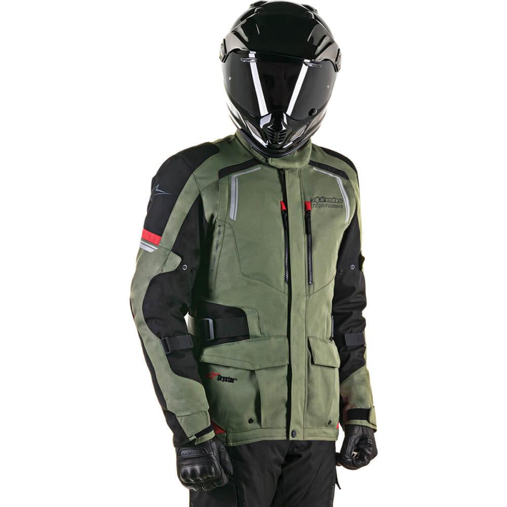 Jaqueta Alpinestars Andes V2 Drystar Verde Militar  - Convem Honda