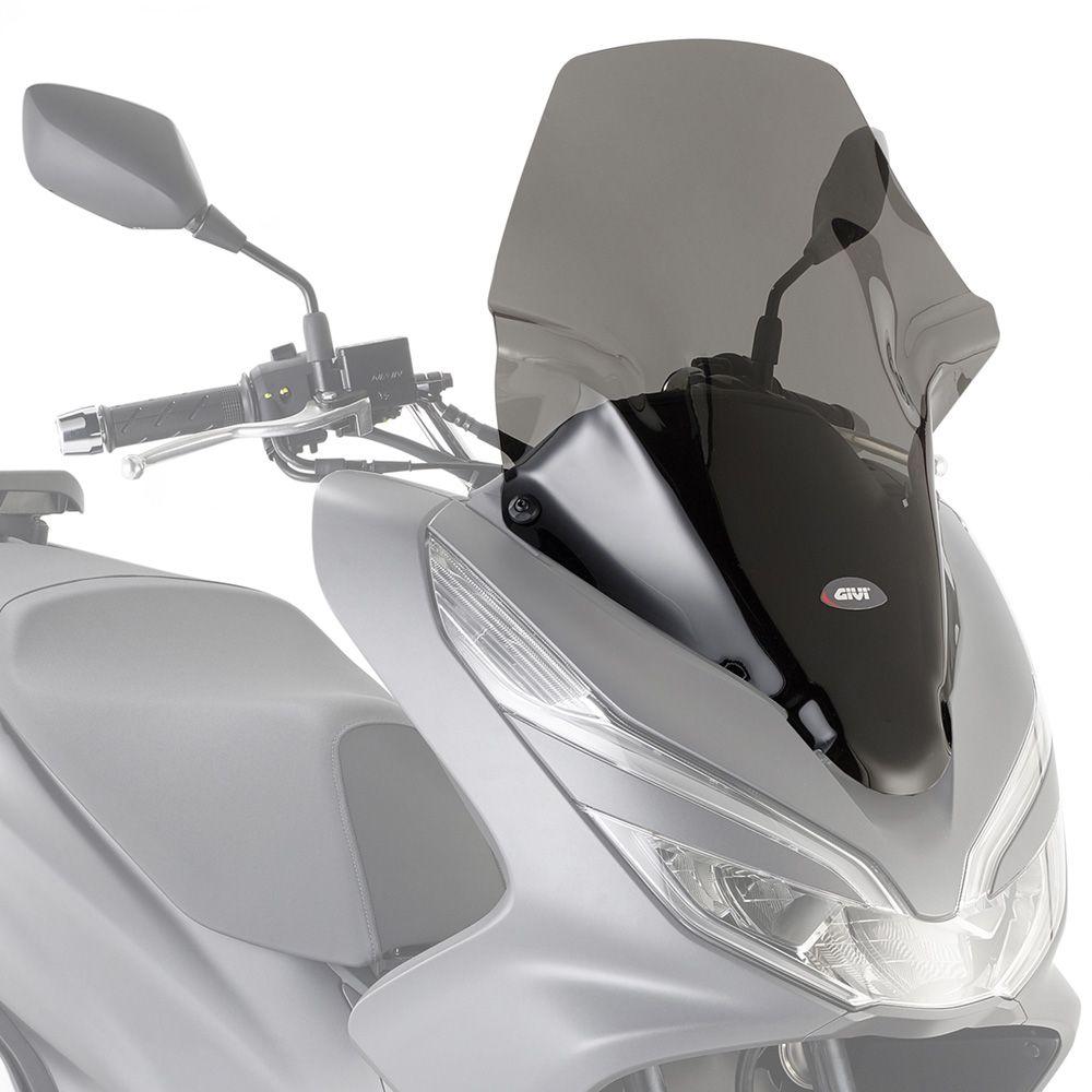 Parabrisa GIVI para PCX150 2019+ 1129DT Fumê com kit de instalação D1163KIT  - Convem Honda