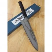 Faca do Chefe Gyuto Miura Carbono Blue 2 Damascus - 21cm Japao