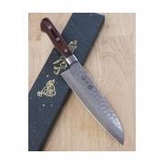 faca santoku MIURA inox Vg-10 mahogany 18cm- Japao kamon