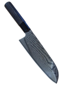Faca santoku TOJIRO Shippu black damascus FD-1597 16,5cm