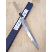 faca sashimi yanagiba MIURA Carbono shirogami 2 Tam:24cm