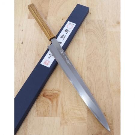 faca sashimi yanagiba MIURA Carbono shirogami 2 Tam:30cm