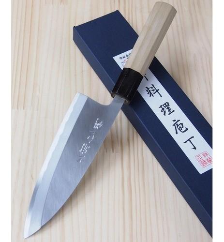Faca Deba Destro Miura Aço Carbono Shirogami -210mm Japao