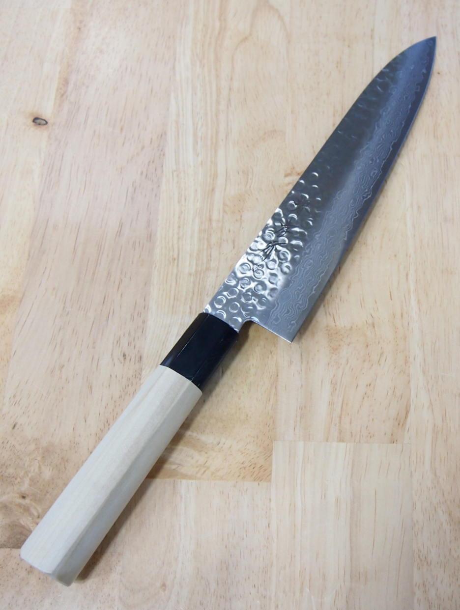 Faca do Chefe Gyuto Sakai Takayuki Martelado Damascus- 21cm Japao