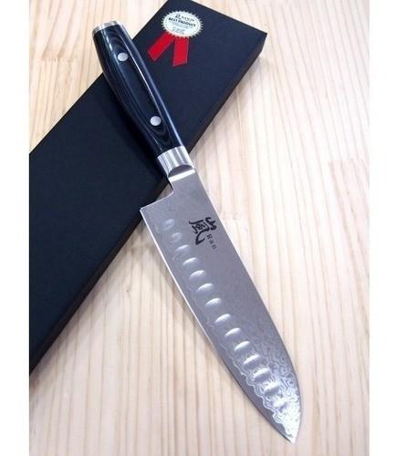 Faca Santoku Com Gominho YAXELL - 69 Camadas Série Ran16,5cm -cod.36001g Japão