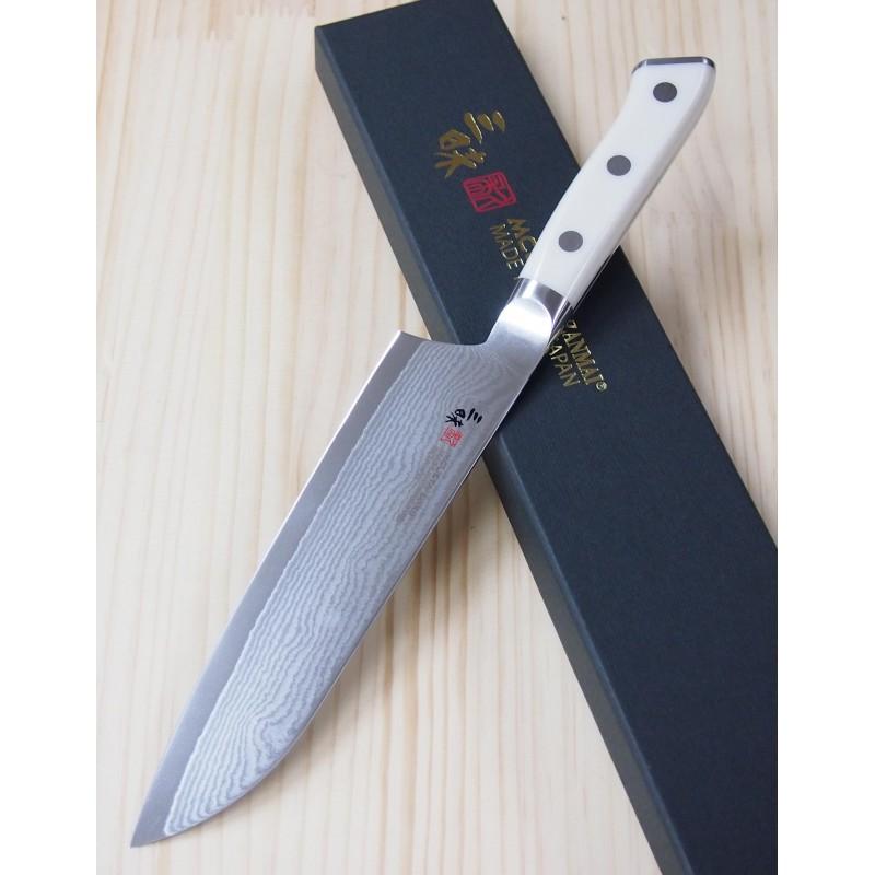 Faca Santoku ZanmaiI Classic Damascus Corian - 18cm  Japão