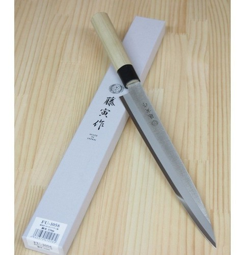 Faca Sushi Yanagiba FUJITORA Série Mv Tam:27cm  FU-1058 Fabricado no Japão