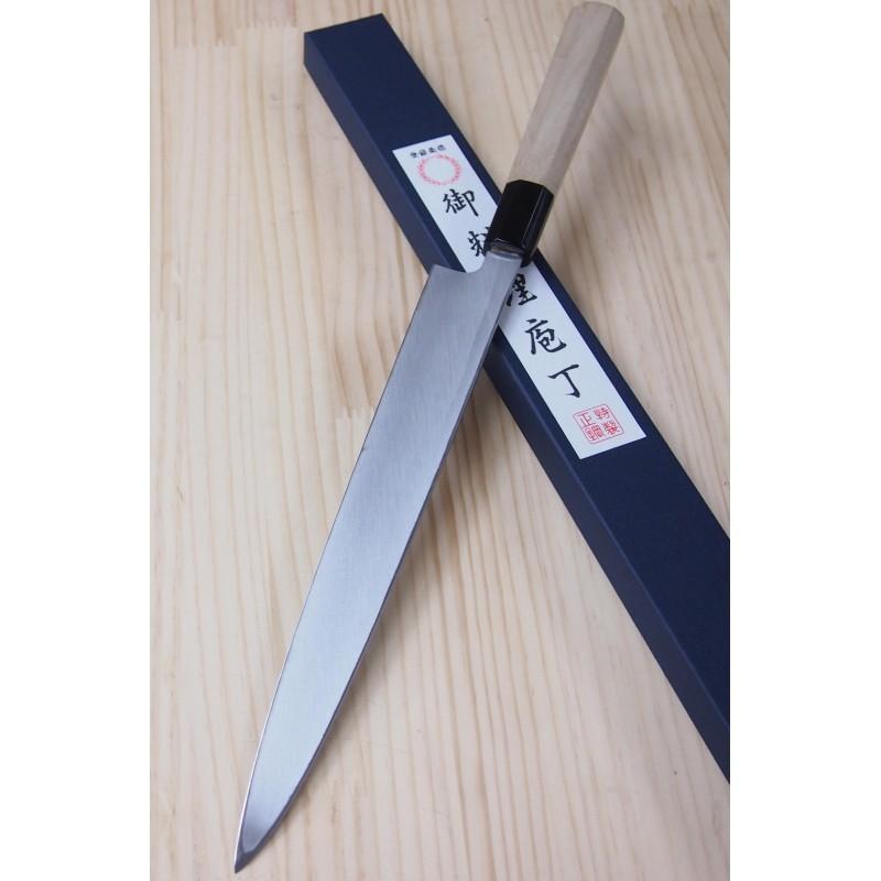 Faca Yanagiba para Canhoto Miura Aço Carbono - 30cm Japao