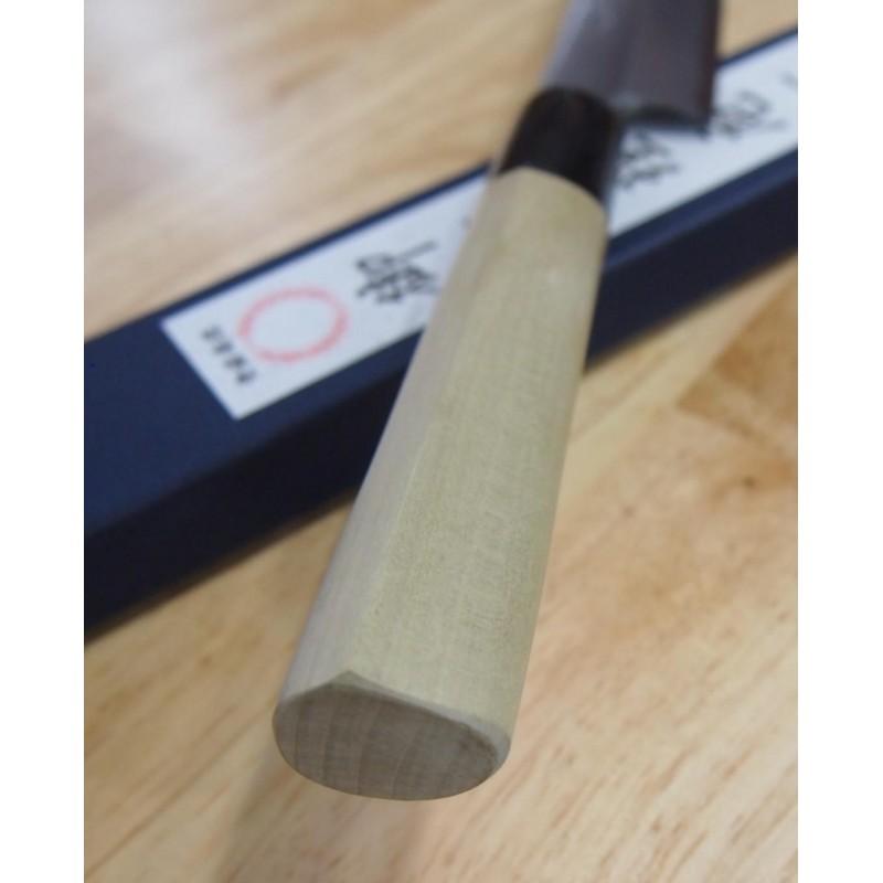 faca yanagiba sashimi MIURA Carbono shirogami 2 Tam:27cm