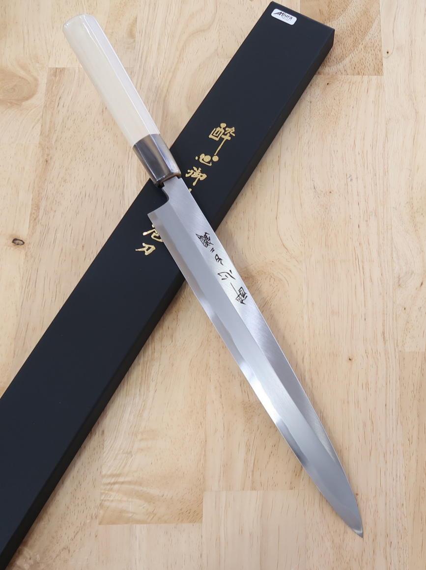 Faca Yanagiba Suisin  Aço Carbono Shirogami - 27cm Japão