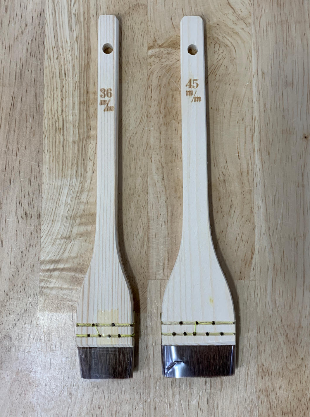 Pincel para Sushi (Hake)  Miura kit com 2 und. 36 e 45mm -Japao