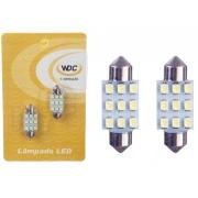 PAR LÂMPADA LED UNIVERSAL TORPEDO 36 MM 9 LEDS - WDC0843