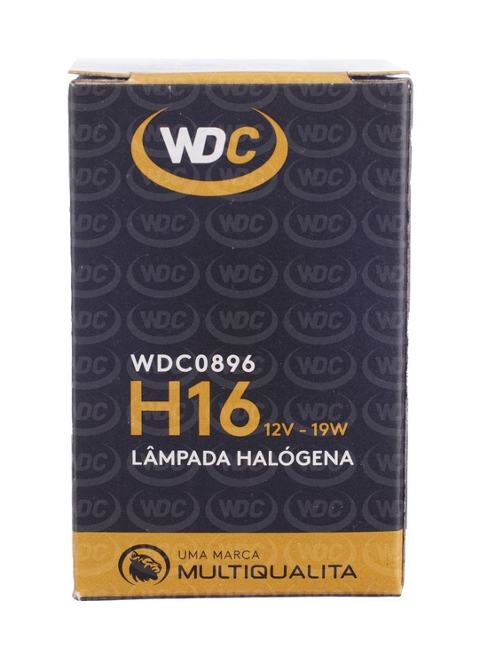 LÂMPADA HALOGENA UNIVERSAL H16 12V 19W - WDC0896