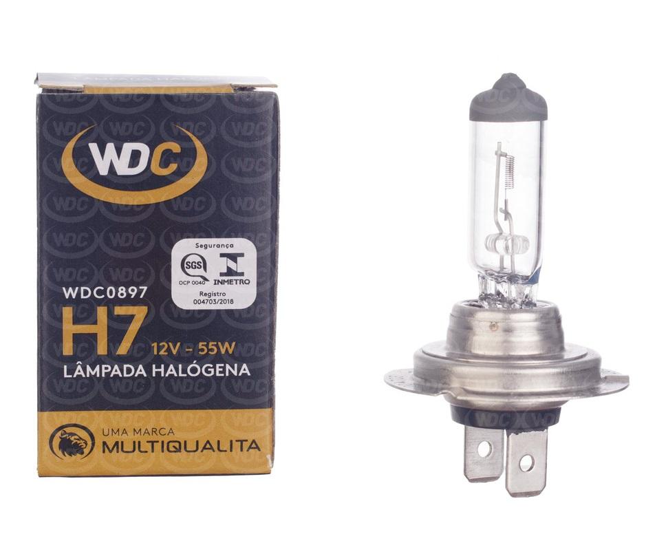 LÂMPADA HALOGENA UNIVERSAL H7 12V 55W - WDC0897