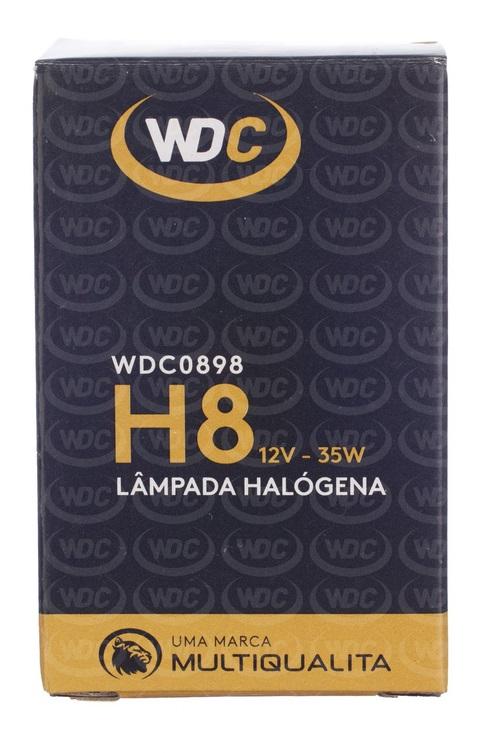 LÂMPADA HALOGENA UNIVERSAL H8 12V 35W - WDC0898