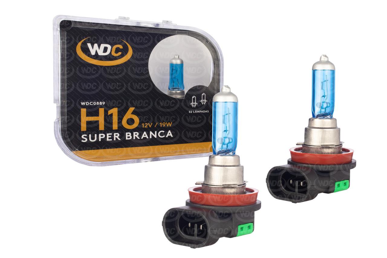PAR LÂMPADA SUPER BRANCA UNIVERSAL H16 19W 12V - WDC0889