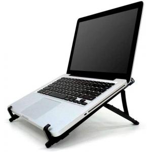 Base Suporte Notebook Regulável Preto Home Office Reliza