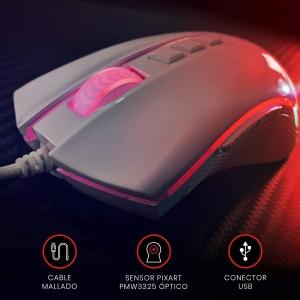 Mouse Gamer Redragon Cobra Lunar White M711W, RGB, 7 botões