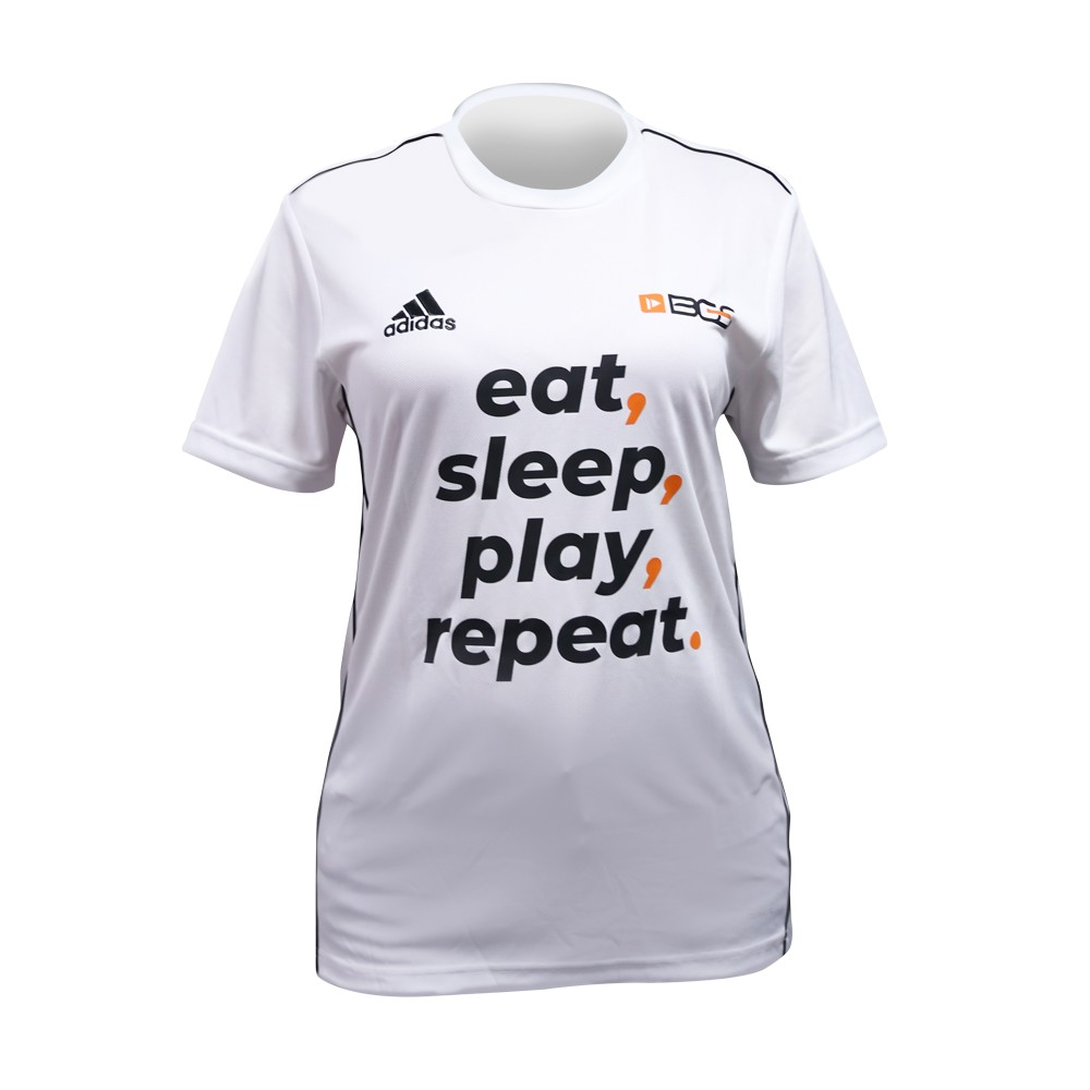 Camisa BGS x Adidas - Eat, sleep, play, repeat. - Unissex