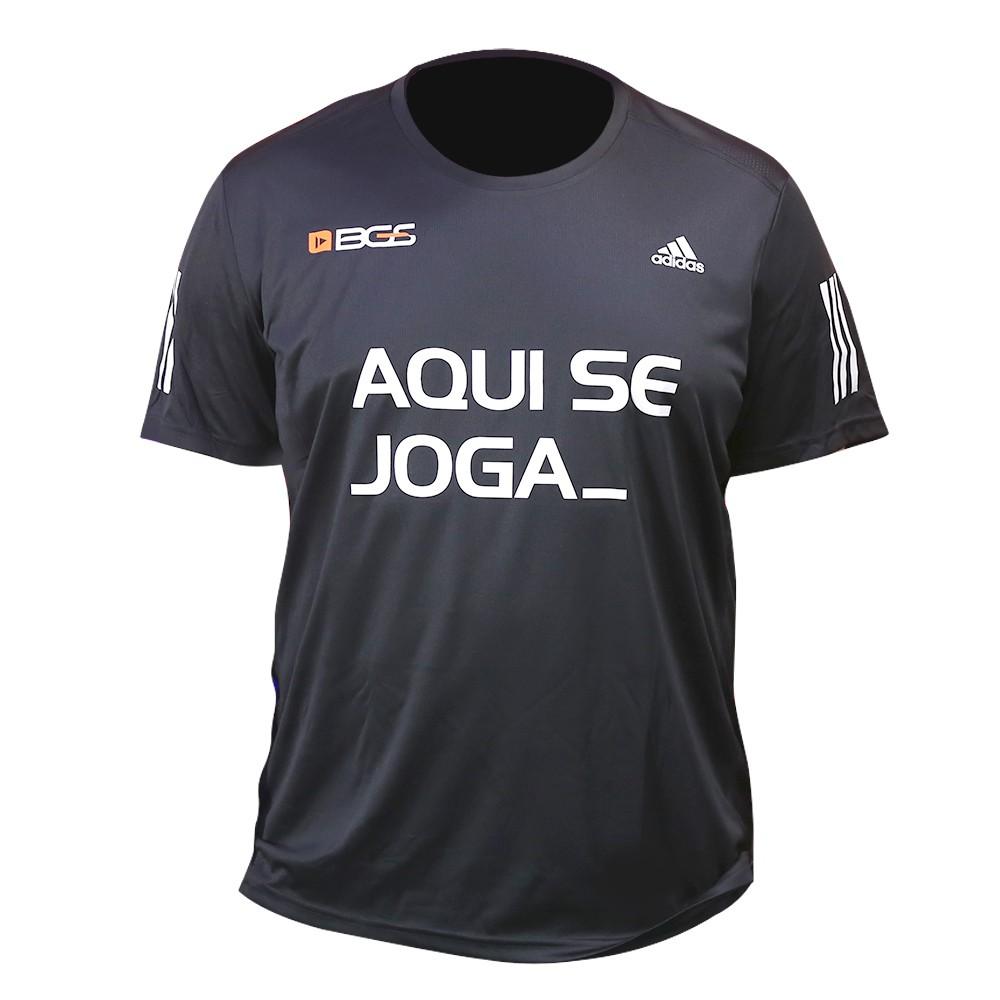 Camisa Masculina Preta BGS x Adidas - Aqui Se Joga_