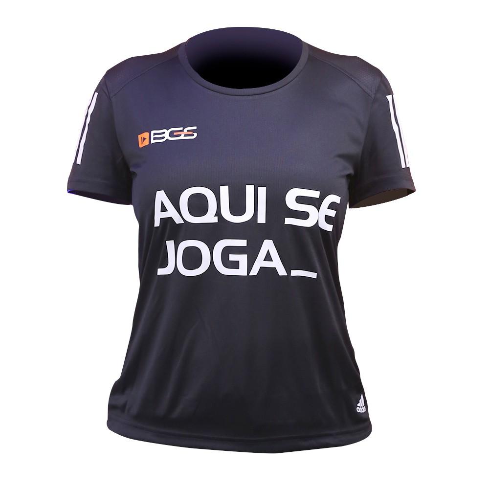 Camisa Feminina Preta BGS x Adidas - Aqui Se Joga_