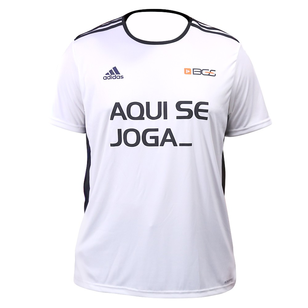 Camisa Masculina Branca BGS x Adidas - Aqui Se Joga_