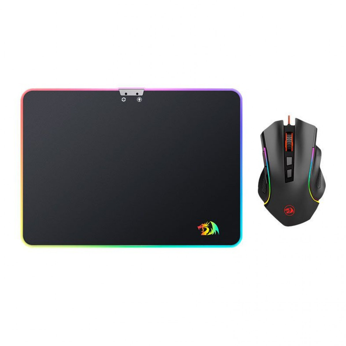 Combo Gamer Redragon Mouse LED + Mousepad RGB M (350x250mm) - M602A-BA
