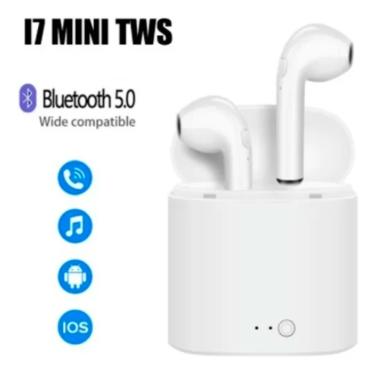 Fone De Ouvido I7 Mini Tws Bluetooth Sem Fio In Ear Branco