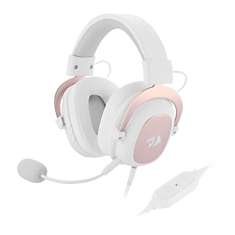 Headset Gamer Redragon Zeus 2 White 7.1, Multiplataforma