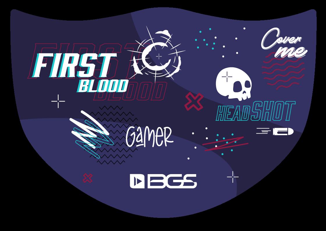 Máscara First Blood - Elástico