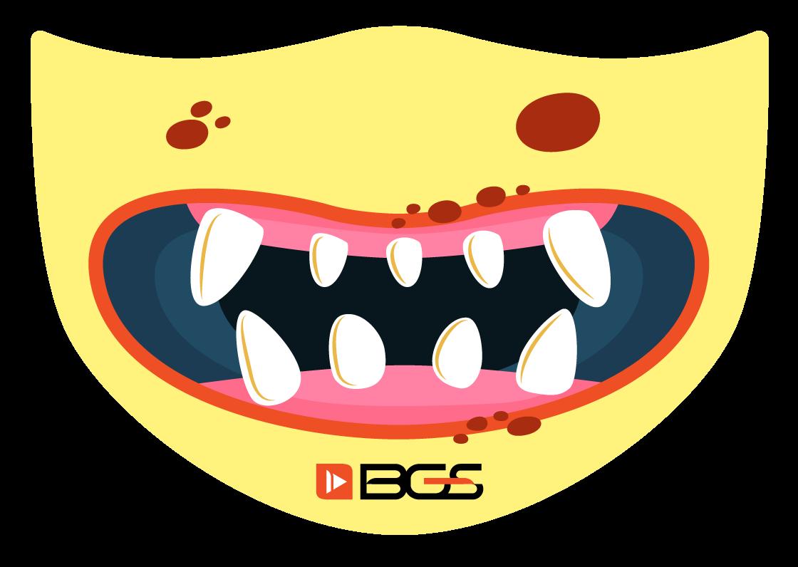 Máscara Yellow Monster - Elástico