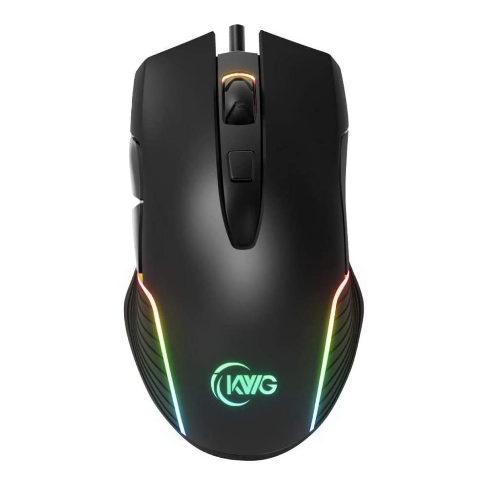 Mouse Gamer KWG Orion M1, 6 botões, Preto, RGB
