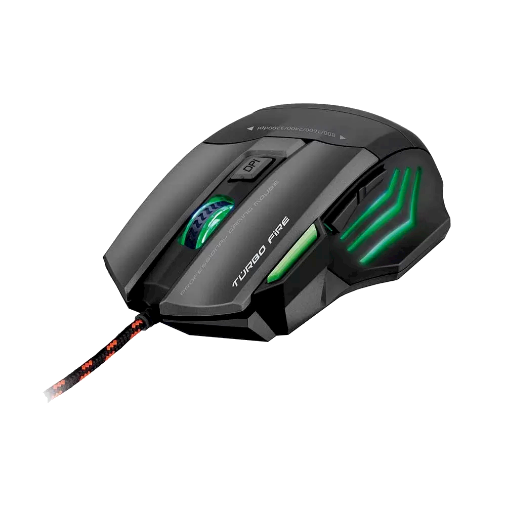 Mouse Gamer Warrior Rayner 3200DPI, Led, 7 Botoes QuickFire - MO207