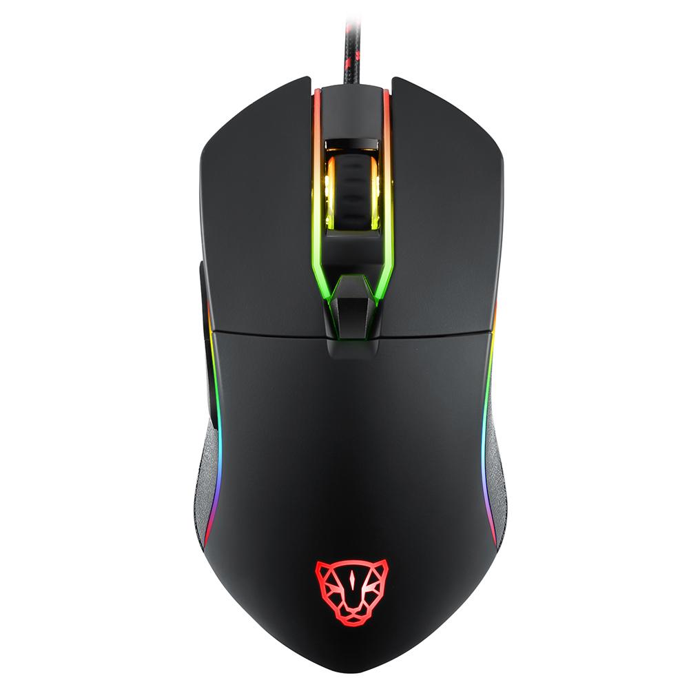Mouse Motospeed V30 Preto - 7000DPI - 6 botões - RGB - Macro