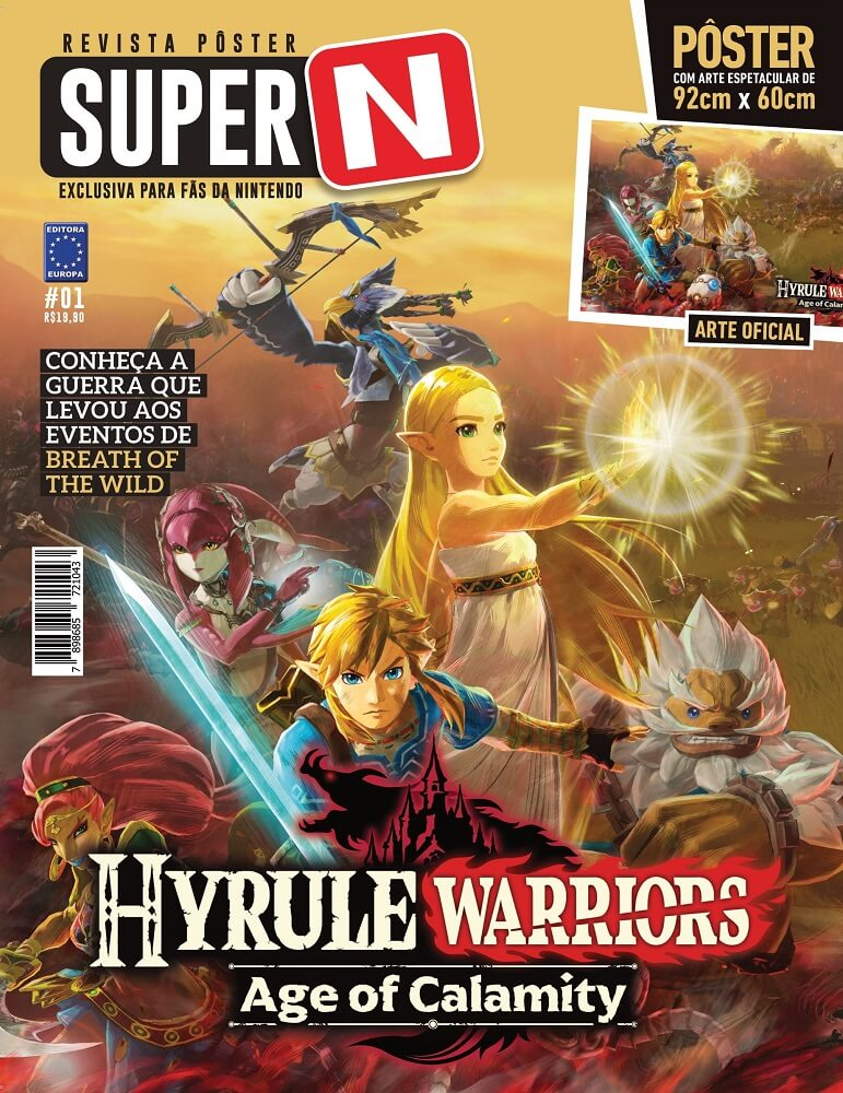 Revista Pôster Super N - Hyrule Warriors: Age of Calamity