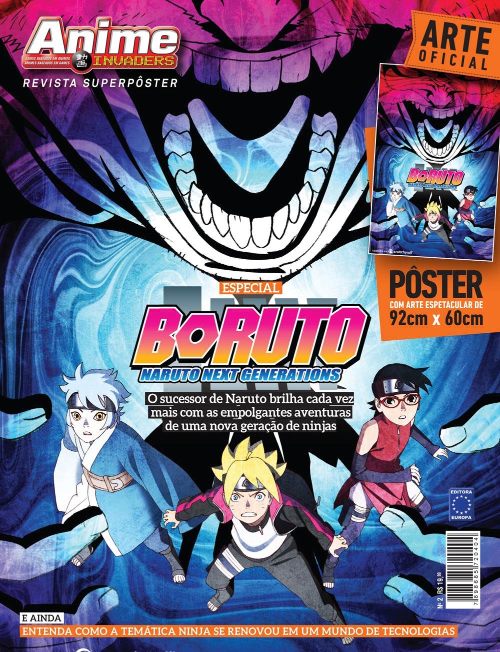 Revista Superpôster Anime Invaders - Boruto